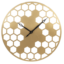 Gold Honeycomb Wall Clock