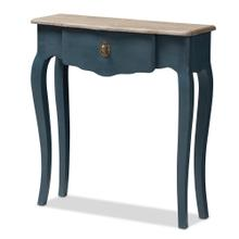 See Details - Baxton Studio Mazarine Classic and Provincial Blue Spruce Finished Console Table
