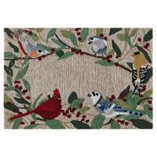 Liora Manne Frontporch Bird Border Indoor/Outdoor Rug Natural