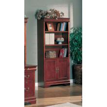 """See Details - BOOKCASE,CHERRY/F, 32-1/5""""x14-1/2""""x72""""H"""