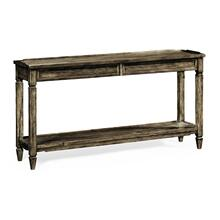 Console Table with Drawer in Dark Driftwood