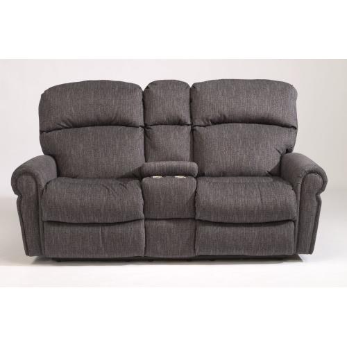 Product Image - Langston Fabric Power Reclining Loveseat with Console