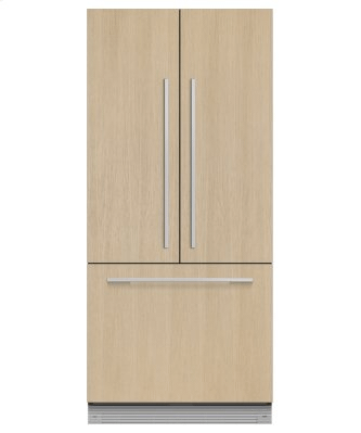 "Integrated French Door Refrigerator Freezer, 32"", Ice & Water"