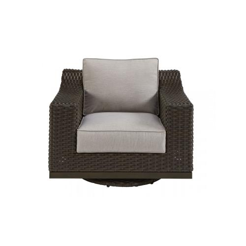 Brannon Outdoor Swivel Club Chair