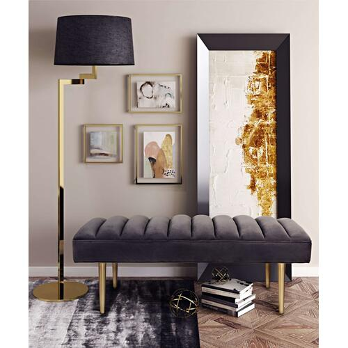 Product Image - Jax Grey Velvet Bench