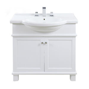 White NOUVEAU 34-in Single-Basin Vanity Product Image