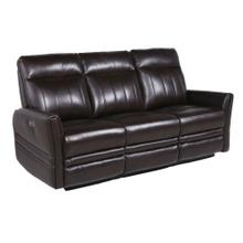 Coachella Leather Dual-Power Reclining Sofa - Brown