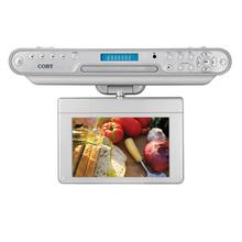 See Details - 7 inch Widescreen TFT Under-the-Cabinet DVD/CD Player with ATSC Digital TV Tuner