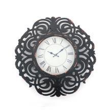 "24"" x 24"" x 2"" Black, Vintage, Wooden - Wall Clock"