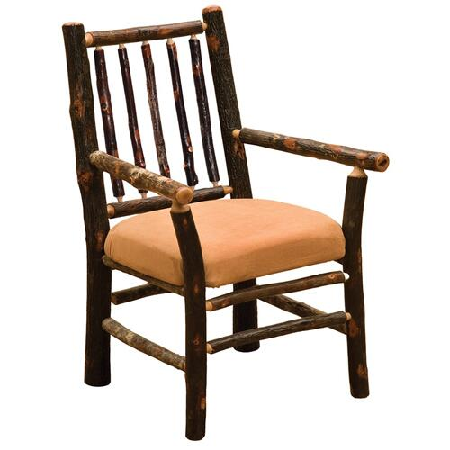 Spoke Arm Chair - Natural Hickory - Standard Fabric