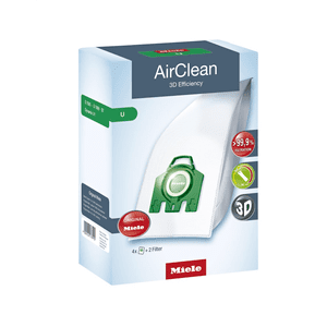 MieleDustbag U AirClean 3D - AirClean 3D Efficiency U dustbags ensures that dust picked up stays inside the machine.
