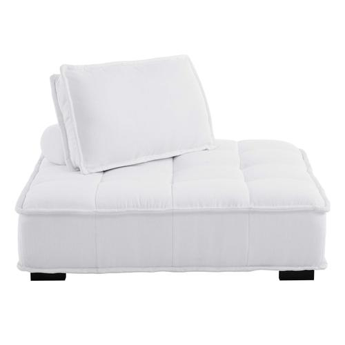 Modway - Saunter Tufted Fabric Armless Chair in White