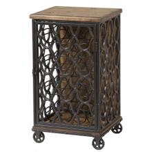 Jane Rae Wood & Metal Wine Rack