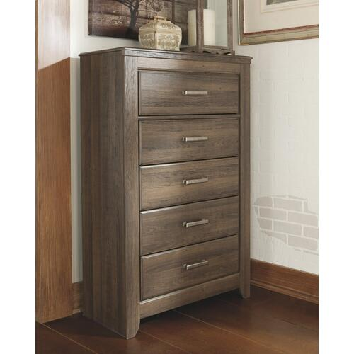 B251 Five Drawer Chest (Juararo Dark Brown)