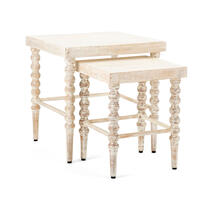 Praha Wood Accent Tables - Set of 2