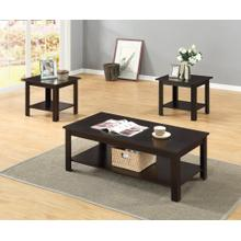 3PC CAPPUCCINO COFFEE & END TABLE SET