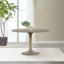 See Details - Pippa Concrete and Metal Tulip Round Dining Table