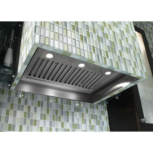 "30"" Smart Designer Custom Insert with Dimmable LED Lighting Stainless Steel - UVC9300SLSS"