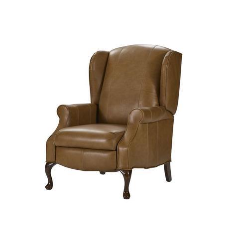 Lancer - High Back recliner with Oak Chippendale leg