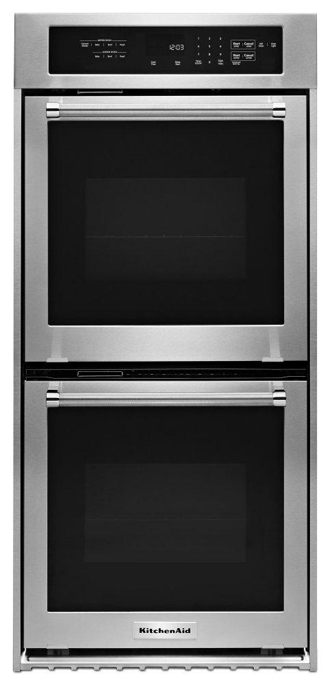 Kodc304ess Kitchenaid 24 Double Wall Oven With True Convection Stainless Steel Stainless Steel Manuel Joseph Appliance Center