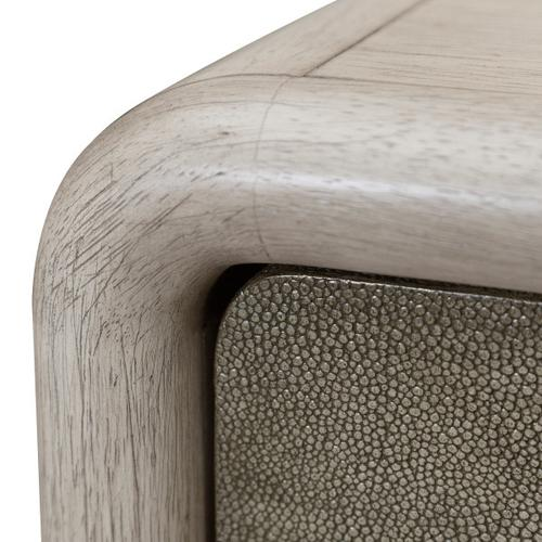 Gray Oak & Shagreen Console Table