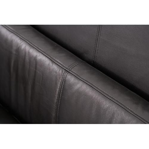 Group 1 Opt 1 Leather Sofa Blk/Blk