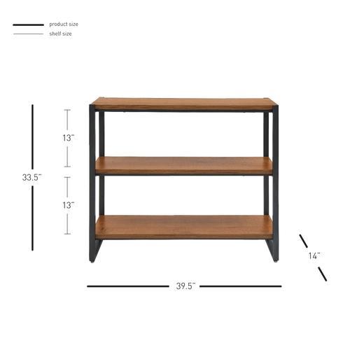 Anderson KD 3 Tier Bookcase, Gliese Brown