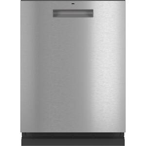 CafeStainless Steel Interior Dishwasher with Sanitize and Ultra Wash & Dry in Platinum Glass