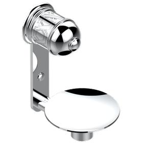 "Soap dish, wall mounted, 4"" diameter"