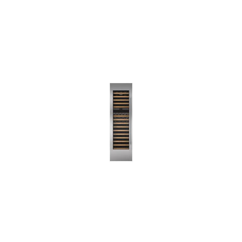 """Integrated Stainless Steel 18"""" Wine Storage Door Panel with Tubular Handle - Right Hinge"""