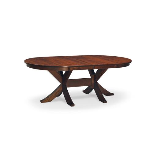 "Parkdale Double Pedestal Table, Parkdale Double Pedestal Table, 48""x84"", 2-Leaves"