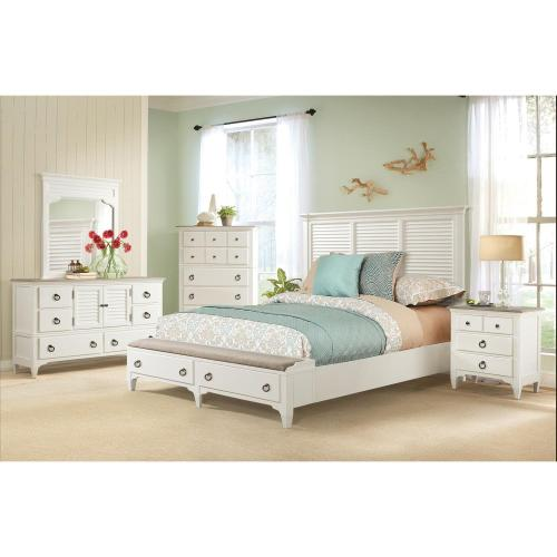 Myra - King/california King Louver Headboard - Paperwhite Finish