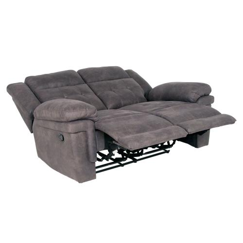 Anastasia Manual Reclining Loveseat, Grey