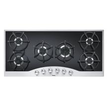 "Stainless Steel/Black 45"" Gas Cooktop - DGCU (45"" wide, six burners)"