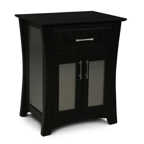 Loft Nightstand with Doors, Loft Deluxe Nightstand with Doors