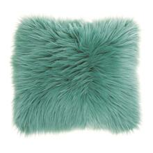 "Fur Fl101 Celadon 1'10"" X 1'10"" Throw Pillow"