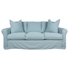 Roll Arm, Plush Depth, Three Cushion, Slipcover Sofa.