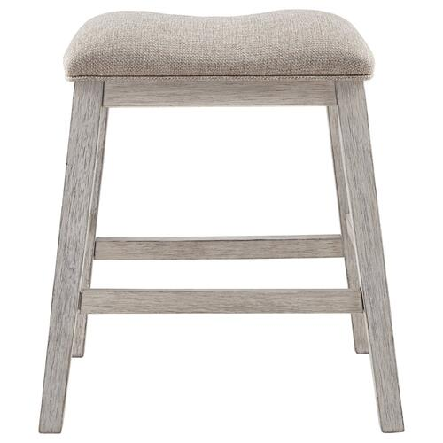 Skempton Upholstered Stool Two-Tone