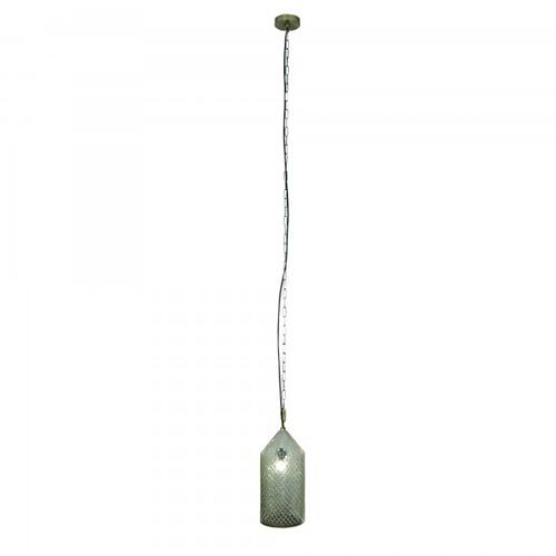 One Light Pendant with Glass Hut Shape