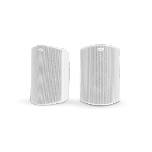 """ALL WEATHER OUTDOOR LOUDSPEAKERS WITH 4.5"""" DRIVERS AND 3/4"""" TWEETERS (PAIR) in White"""