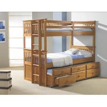 See Details - Twin/ Twin Mission Captains Trundle Bunkbed