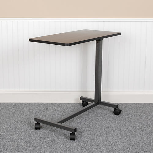 Flash Furniture - Adjustable Overbed Table with Wheels for Home and Hospital