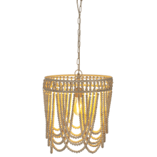 See Details - Oval Frame Whitewash Beaded Chandelier. 60W Max. Hard Wire Only.