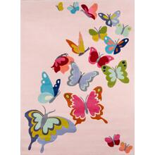 Lil Mo Whimsy Butterfly Flutter Lmj-32 Pink - 2.0 x 3.0