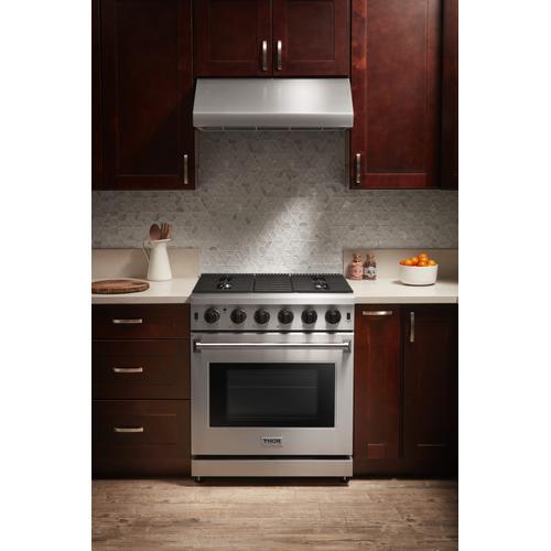 Thor Kitchen - 30 Inch Gas Range In Stainless Steel
