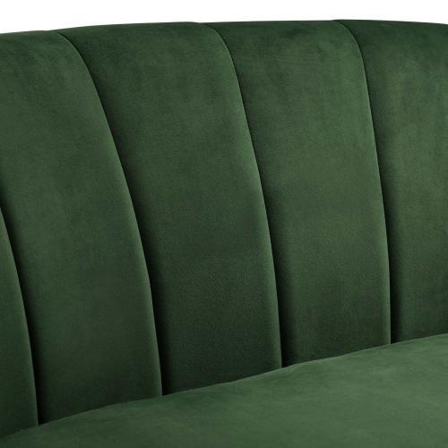 Prospect Channel Tufted Performance Velvet Armchair in Emerald