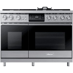 "Dacor48"" Pro Dual-Fuel Steam Range, Silver Stainless Steel, Natural Gas"