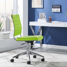 See Details - Jive Armless Mid Back Office Chair in Bright Green