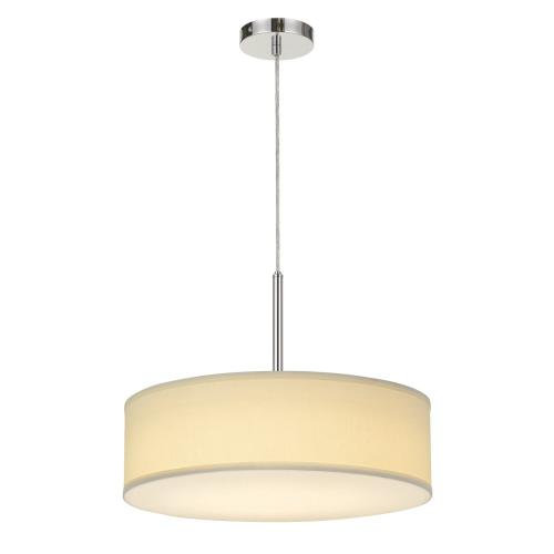 LED 18W Dimmable Pendant With Diffuser And Hardback Fabric Shade
