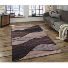 "Soft Power Loomed Polypropylene Geometric Design Tara 302 Area Rug by Rug Factory Plus - 7'6"" x 10'3"""